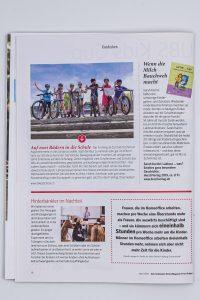 Das Schweizer Eltern Magazin Fritz und Fränzi, Ausgabe 4/2019, Seite 10